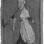 Hester in old age, strolling with her pipe