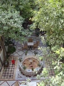 Vanished peacefulness of the Beit al Mamlouka courtyard, Damascus